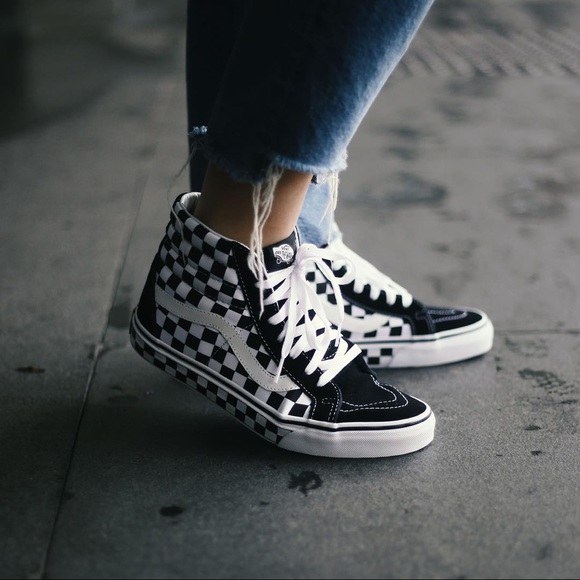 Vans Shoes - Vans Checkerboard Sk8 Hi Reissue Sneakers